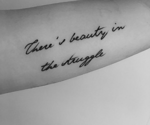 beauty, struggle, and tattoo image