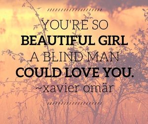 beauty, blind man, and love image