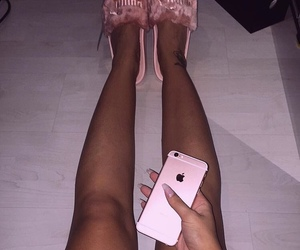 pink, girl, and iphone image