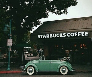 starbucks, coffee, and car image