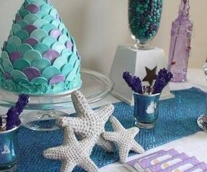 birthday, mermaid, and pastel image