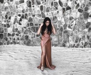 rose gold, wedding fashion, and silk image