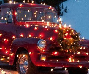 christmas, light, and car image