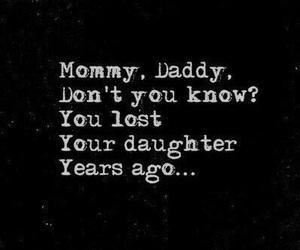 sad, daughter, and depression image