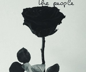 black, people, and flower image