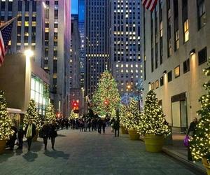 big city, christmas, and Christmas time image