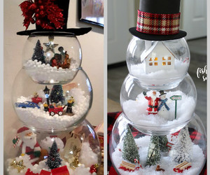 christmas decoration, christmas crafts, and snowman craft image