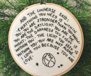 quotes, universe, and green image