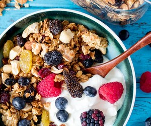 berries, granola, and breakfast image