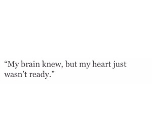 quote, brain, and heart image