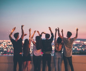 friends, light, and friendship image