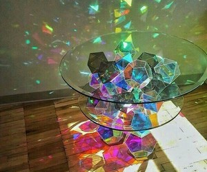 table, colorful, and colors image