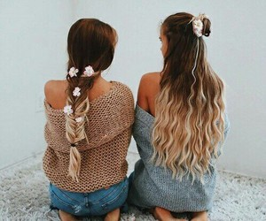 hair, friends, and hairstyle image