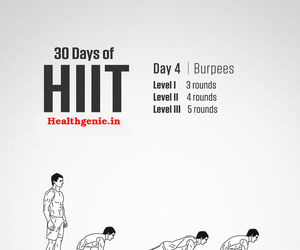 workout, hiit workout, and weight loss exercise image