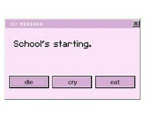 school, cry, and die image