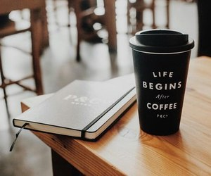 coffee, book, and inspiration image