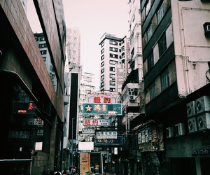 cities, HK, and outdoors image