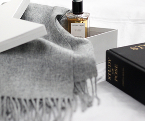perfume, luxury, and scarf image