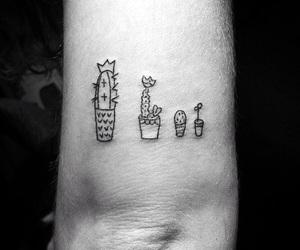 tattoo, cactus, and black image