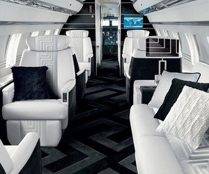 luxury, plane, and rich image