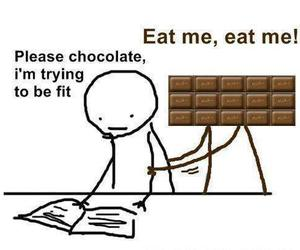 chocolate, fit, and funny image