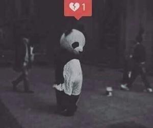 panda and broken_heart image