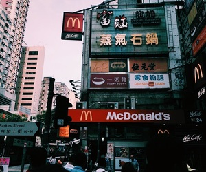 cities, HK, and McDonald's image