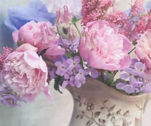 flowers, lilac, and pastels image