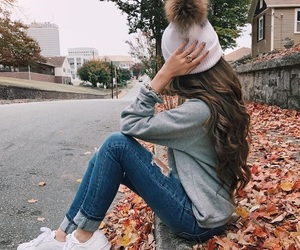 fashion, hair, and autumn image