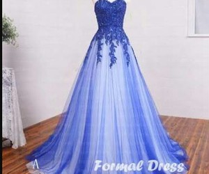 blue, elegant, and gown image