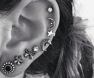 ear, piercing, and earrings image