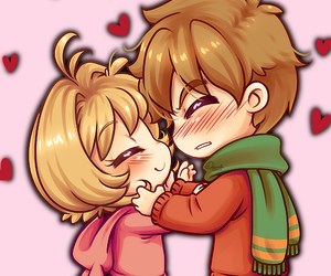 chibi, hug, and sweet image