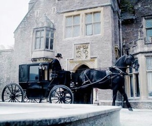 horse, carriage, and victorian image
