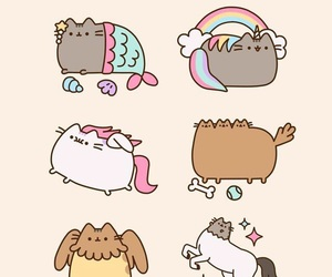 cat, pusheen, and unicorn image
