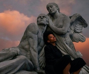 sky, statue, and art image