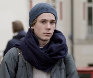 boy, skam, and scarf image