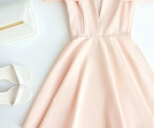 dress, light pink prom dress, and cute prom dress image