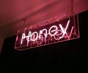 honey, pink, and light image