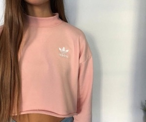 adidas, girl, and fashion image