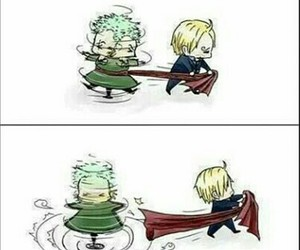 sanji, one piece, and zoro image