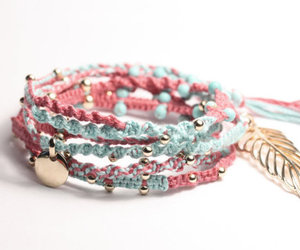 bracelet, fashion, and pink image