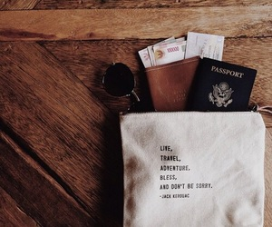 travel, passport, and adventure image