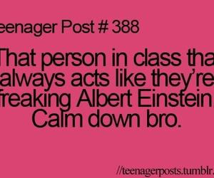 teenager post, class, and Albert Einstein image