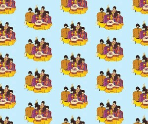 background, beatles, and pattern image
