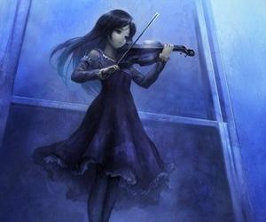 violin, anime, and music image