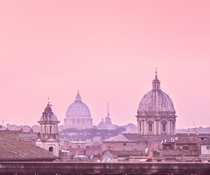 city, pink, and dome image