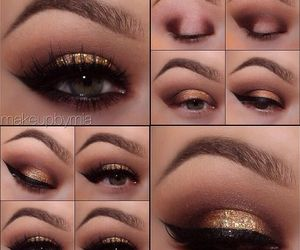 glam, glitter, and makeup image