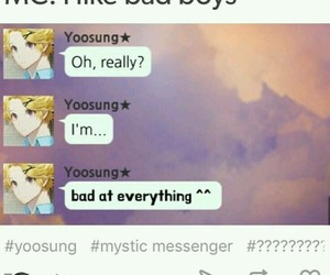 funny, mystic messenger, and yoosung kim image