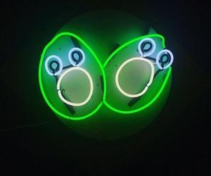 avocado, neon lights, and green image