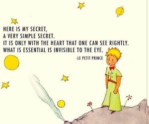 quote, little prince, and heart image